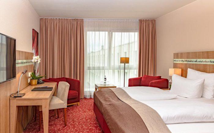 Welcome Hotel Darmstadt sehr einladendes Doppelzimmer.