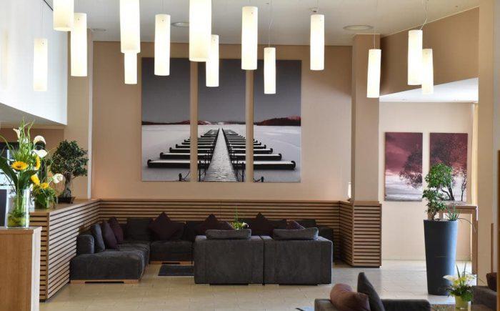 Welcome Hotel Darmstadt sehr schöner Empfangsbereich.