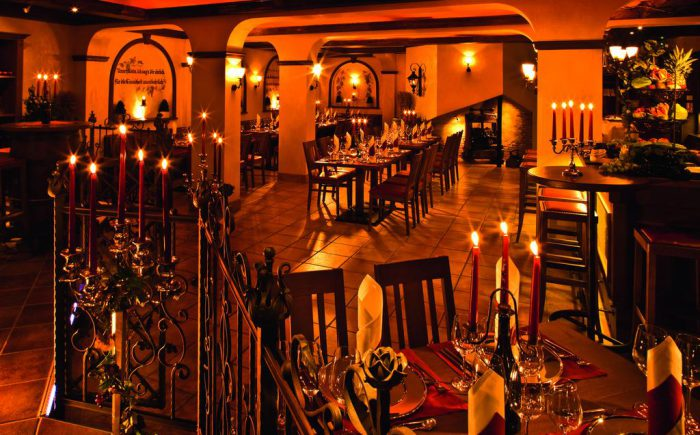 ESPERANTO Kongress- und Kulturzentrum viele leckere Speisen im großen Restaurant.