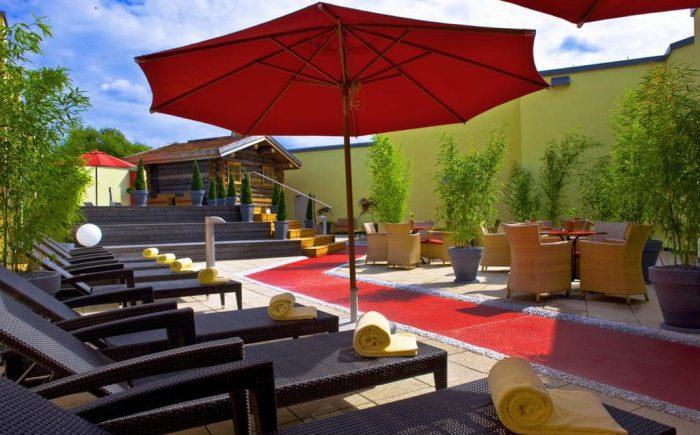 ESPERANTO Kongress- und Kulturzentrum genießen Sie den großen und sehr ansprechenden Saunabereich nach langen Tagungen direkt im eigenen Tagungshotel.